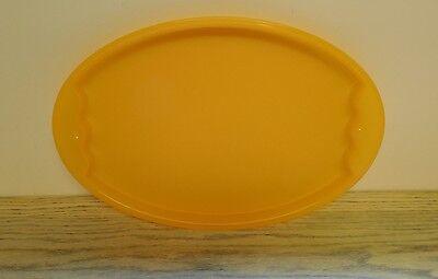 Tupperware IMPRESSIONS Serving Tray NEW Tangerine PLATTER