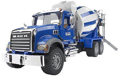 Bruder Toys MACK Granite Cement Mixer Truck 02814 Kids Play NEW