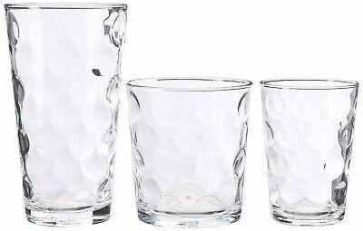 Home Essentials KS-6RRC-G604 Galaxy Glassware Glasses 12-pc Set BOX DAMAGE