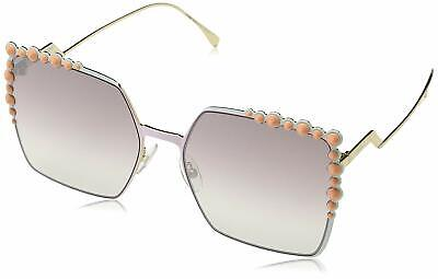 Fendi FF 0259/S Pink 035J / brown mirror gradient lens (Gradient Mirror Sunglasses)
