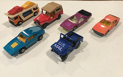 Vintage 1960's  1970s Matchbox Lesney Superfast Lot of 6