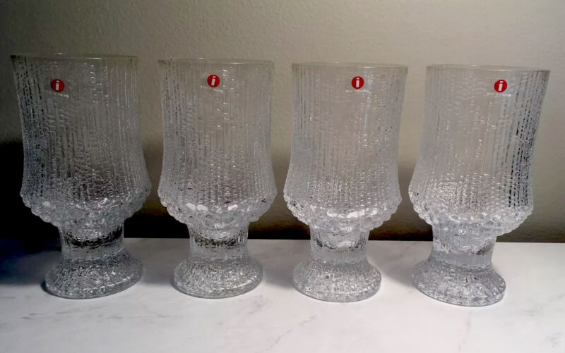 Iittala Finland Ultima Thule Goblets, SET OF 4, With Boxes