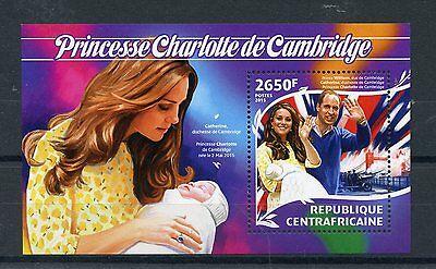Central African Republic 2015 MNH Birth Princess Charlotte Royal Baby 1v S/S