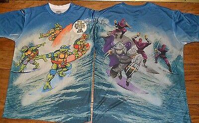 Teenage Mutant Ninja Turtles 2 Sided 100% Polyester T-Shirt Activewear - Tmnt Shirt