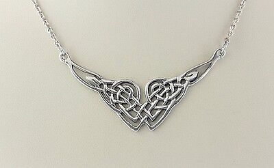 """PSCL Peter Stone Sterling Silver 925 Celtic Knotwork Pendant Necklace 17"""" - 18"""""""