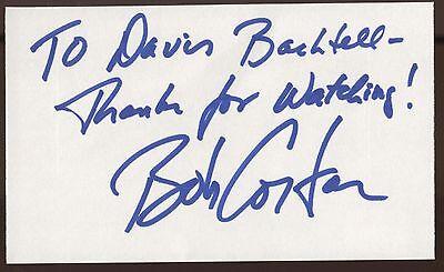Bob Costas Signed Index Card Signature Vintage Autographed Auto