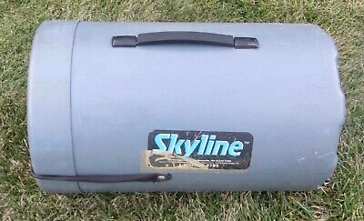 Skyline Shipping Container Drum Tote Canister Trade Shoe Case 21 Tall X 13 Dia