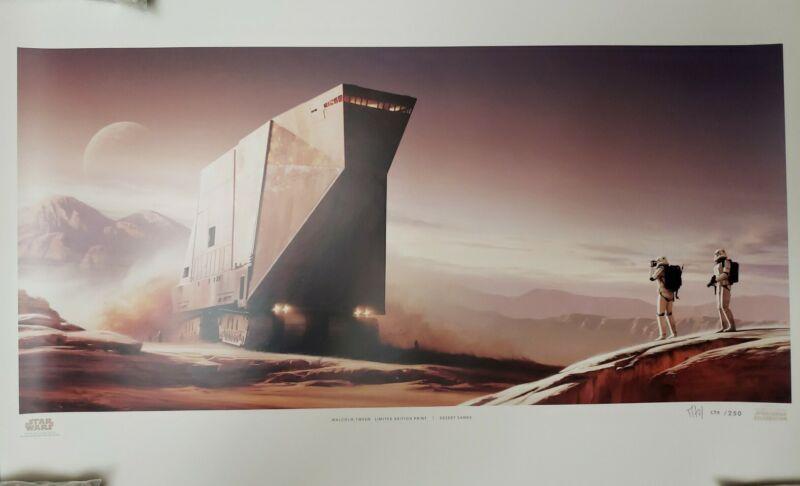 Star Wars Celebration anaheim sandcrawler jawa Malcom Tween  Art Print #238/250