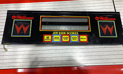 Williams TAXI Pinball Machine Display Speaker Panel with speakers and Display