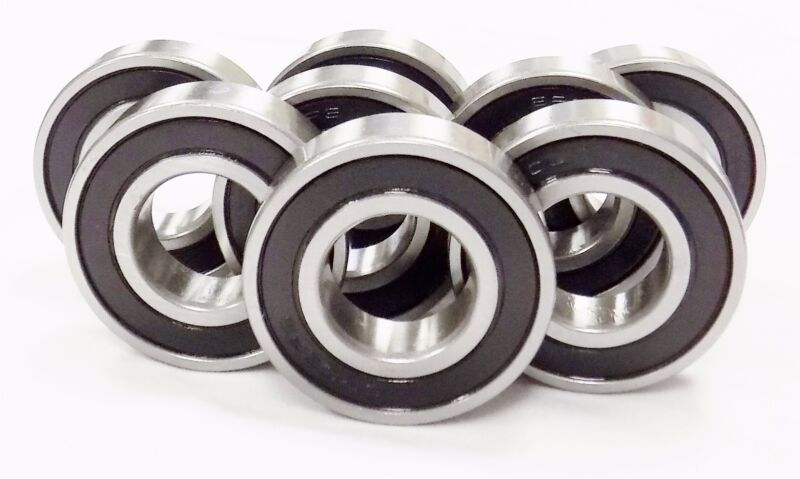 Qty 10 6205 2RS 6205 RS Sealed Bearings EMQ C3 25 x 52 x 15  Blk-Std 3O167