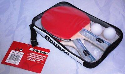 Tischtennis - Set 5tlg Tischtennisschläger 2 Schläger + 2 Bälle + Tasche Tischtennis Tasche