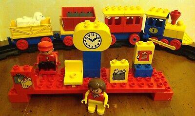 Vintage LEGO 2701 DUPLO Express Train Station Set 1988 minifigs