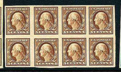 Scott #346 Washington Mint Imperf  Block of 8 Stamps  (Stock #346-126)
