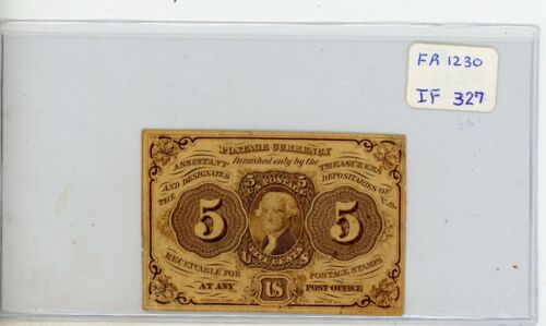 FR.1230 US 1st Issue 5 Cent Fractional - Circulated # 327