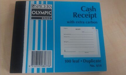 New!Olympic 614 Cash receipt book docket 5x