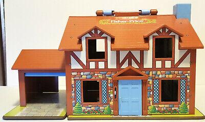 Vintage 1980 Fisher Price Little People Brown Tudor house 952 COMPLETE set