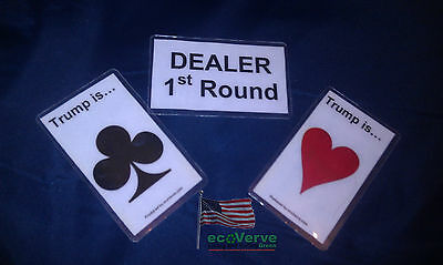 Trump Marker Marker  Indicator   For Euchre And Other Card Games With A Trump
