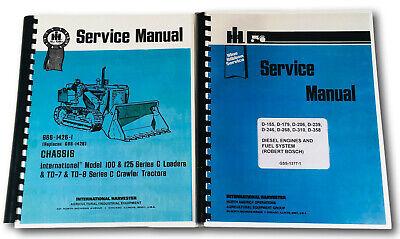 Set International Dresser 100 Series C 100c Crawler Loader Service Repair Manual
