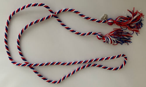 Red, White, Blue, Eagle Scout Graduation Honor Cord with 2021 Eagle Charm