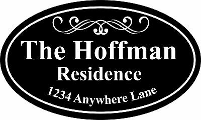 Personalized House Address Sign Plaque Family Name (House Address Sign)