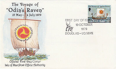 (18842) GB Isle of Man FDC Voyage of Odins Raven Douglas 19 October 1979