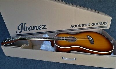 Ibanez PN15-BS Compact Acoustic Guitar SPRUCE TOP Parlor Size BROWN SUNBURST 6st