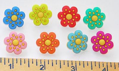 Dot Flowers (Polka Dot Flowers / Yellow Polka Dot Flower Buttons / Dress It Up Jesse)