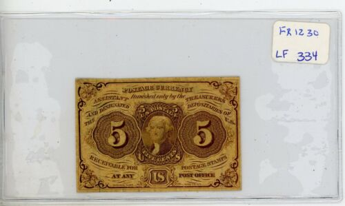 FR.1230 US 1st Issue 5 Cent Fractional - Circulated # 334