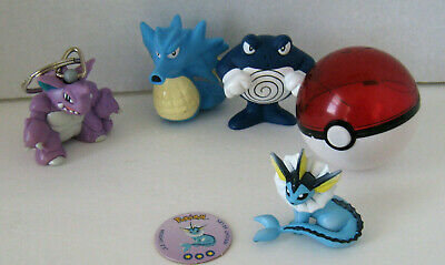 Vintage Pokemon Toys1999 Keychain Squirters Figures Assorted Lot of 5! Set #3