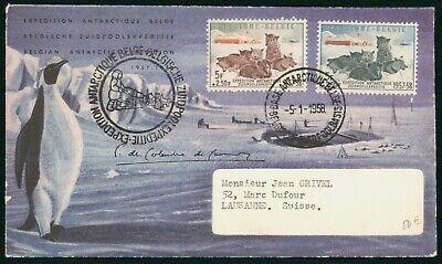 Mayfairstamps Belgium 1958 Penguin Cachet Antarctic Expedition Cover wwo97179