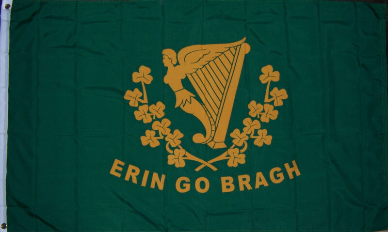 NEW 3x5 ft ERIN GO BRAGH ST PATRICKS DAY IRELAND IRISH FLAG better quality us