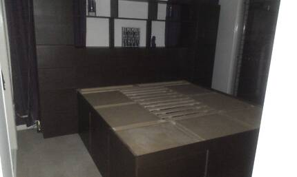 Custom Made King Size Bed with Built-in Storage - Negotiable Toowoomba 4350 Toowoomba City Preview