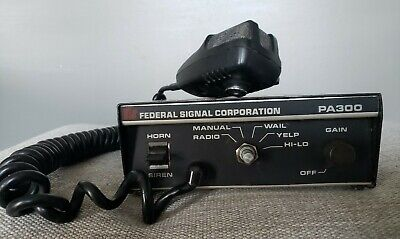 Federal SIGNAL CORPORATION MODEL PA 300 Series w/ Microphone