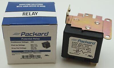 Packard Potential Relay 332 Voltage 171-184 Pick Up 40-90 Drop Off Pr9065