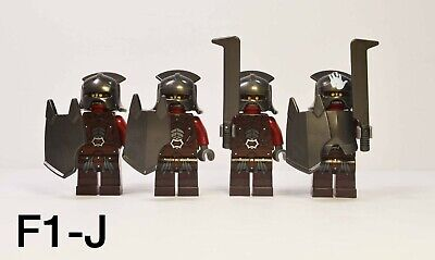 LEGO Lord of the Rings Uruk Hai Army Minifigures Lot of 4 w/ Swords & Shields