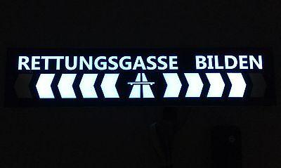 Rettungsgasse Bilden Schild  XXL !!!! Leuchtend mit Animation
