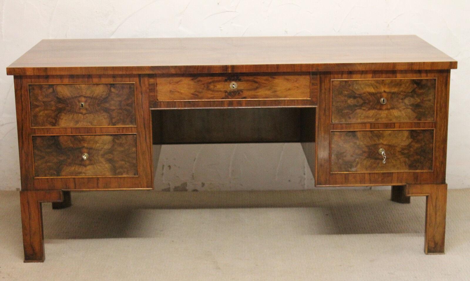 schreibtisch kanzleischreibtisch gro sekret r art deco antik frankreich eur picclick de. Black Bedroom Furniture Sets. Home Design Ideas