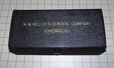 Vintage W.m. Welch Scientific Company 0-1 Micrometer Chicago Ill.