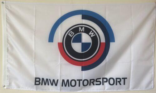 BMW MOTORSPORT FLAG BANNER 3X5FT WHITE
