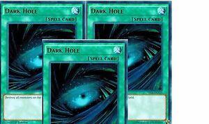 Dark Hole Ultra Rare Mint  1st X 3 YUGIOH