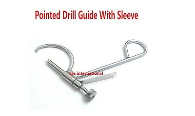 Orthopedic Pointed Drill Guide With Sleeve Surgical Instruments Stainless Steel