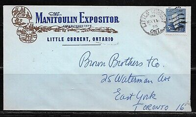 Canada ONT - Little Current 1955 - The Manitoulin Expositor Newspaper CC Cover