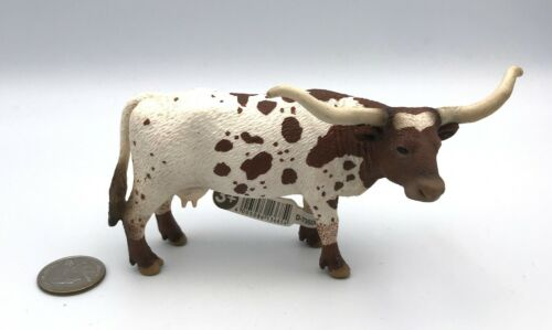 Schleich Cow TEXAS LONGHORN COW Female 2010 Retired Farm Animal 13685 Figure Toy