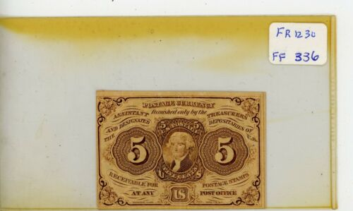 FR.1230 US 1st Issue 5 Cent Fractional - Circulated # 336