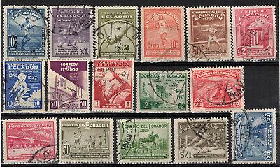 ECUADOR Scott 373-6/377-81 & C65-9/408-A Used ## 1 cent start ##