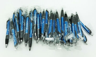 Lot Of 50 Blue Retractable Ball Point Pens Black Ink Oceanfirst Bank Promo Item