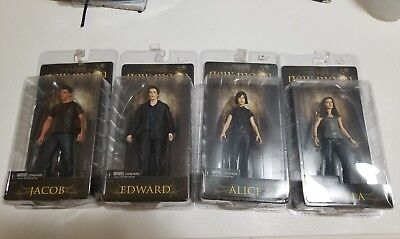 Neca Twilight Saga New Moon Figures Bella Jacob Edward Alice Exclusive Set