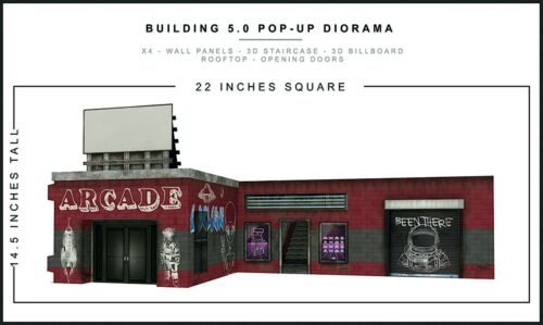 "Extreme-Sets Building 5.0 Pop-Up Diorama 1/12 Scale for 6""-7"" Action Figures"