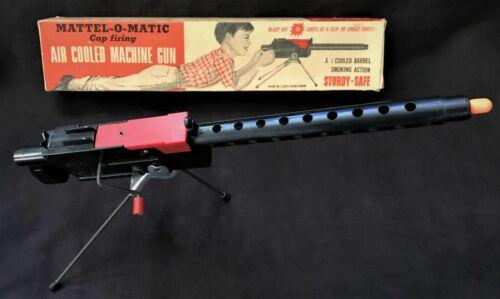 MATTEL-O-MATIC  Cap Firing Air Cooled Machine Gun/Cap gun  w/Original Box