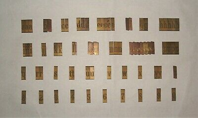 New Herms Engraving Font Set Lower Case Double-line Letters 15b